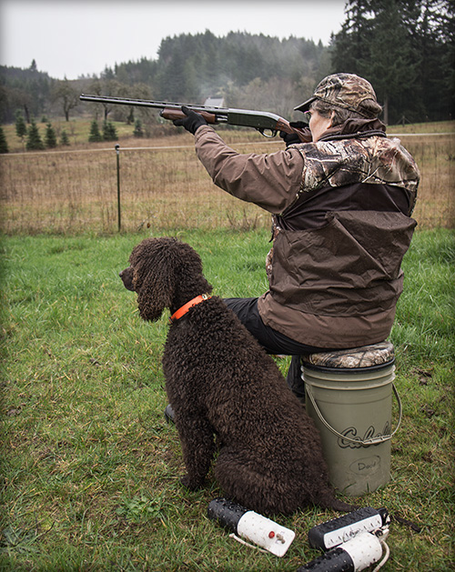 Cooper admires the precision of a Remington 870 Wingmaster