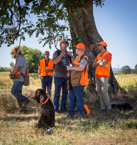Cooper and his class of new pheasant hunters