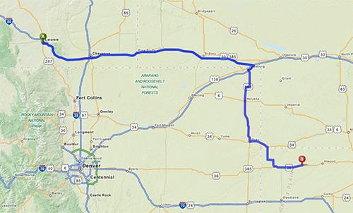 Laramie to the Beaver Creek Ranch in NE Kansas
