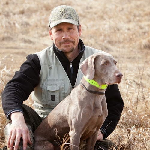 Craig Koshyk with one of his remarkable Weimaraners